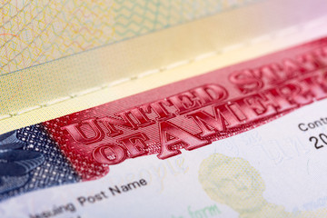 Visa in passport