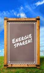 Strassenschild 34 - Energie sparen