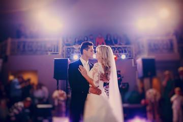 First dance bride in a restaurant