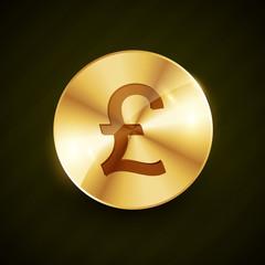gold pound money symbol coin vector design illustration