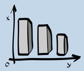 cartoon report growing chart business