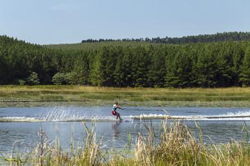 Teenager Water-Skiing