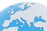 Erde Europa Länder - hellgrau blau