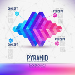 Abstract concept geometric Pyramid