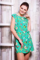 простое, повседневное платье