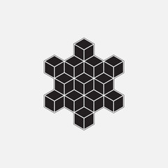 Abstract geometric element, line design, vector, hexagons