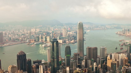 Timelapse video of Hong Kong from day to night