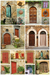 beautiful abstract tuscan house