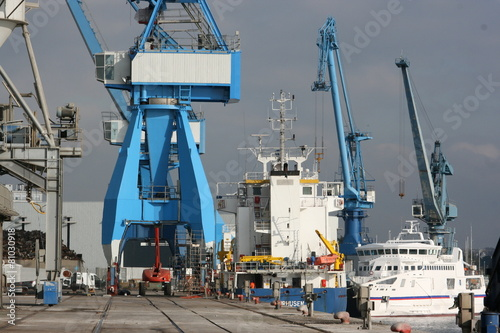 Port de commerce de Keroman à Lorient (Morbihan)