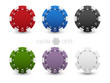 Set of casino chips - 81031139