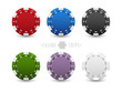Set of casino chips - 81031144