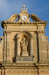 The church of St Francis in Victoria, Gozo, Malta,