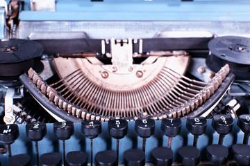 Retro typewriter, closeup