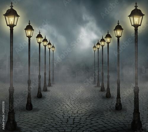 Fototapeta Fog in the city