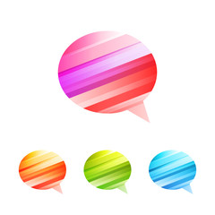 Colored conversation icon set