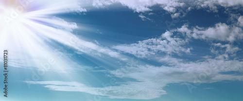 Splendo cielo blu
