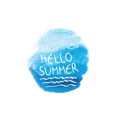 Hello summer. Symbol of summer.