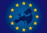 Vector illustration. Symbols of the European Union