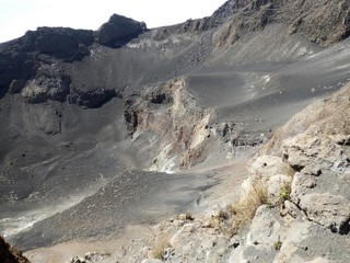 Inside a volcanic crater