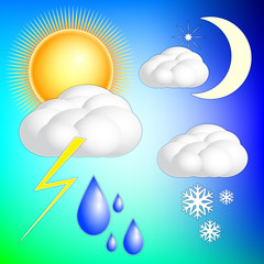 Vector abstract weather image set