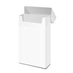 Opened Blank White Slim Cigarettes Pack Box