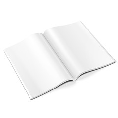 Blank Opened Magazine, Book