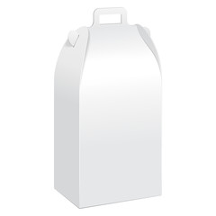 White Tall Cardboard Carry Box