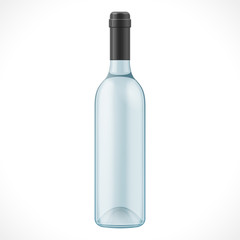 Blue Glass Wine Cider Bottle