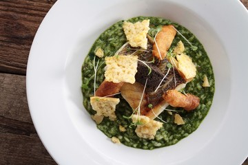 cod fillet with risotto