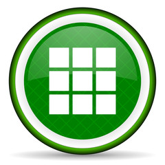 thumbnails grid green icon gallery sign
