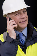 Building Contractor On Mobile Phone