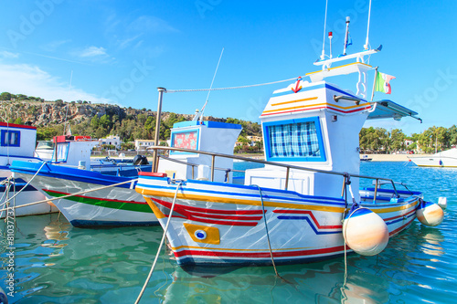 Aluminium Boats in a port in San Vito Lo Capo, Sicily, Italy