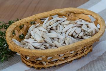 White sunflower seeds