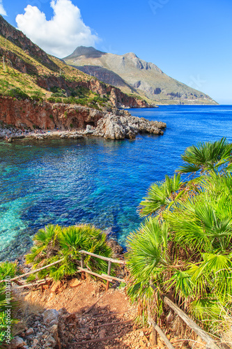 View of a typical coastline of Sicily, Italy - 81038170