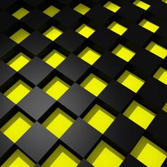 Fototapeta 3D czarno-żółta krata
