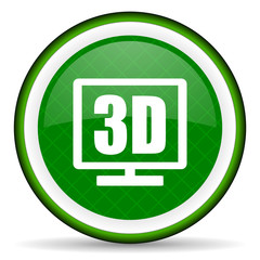 3d display green icon