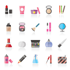 Make-up and cosmetics icons  - vector icon set