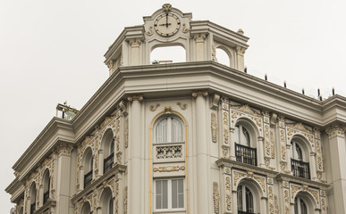 Exterior facade of an ornate Turkish building