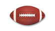 Leinwanddruck Bild - American Football isolated on white background, top view