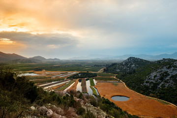 Balkan mountains view