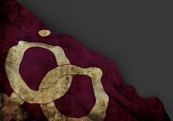 Lesbians symbol  3d corner flag overlaid with grunge texture
