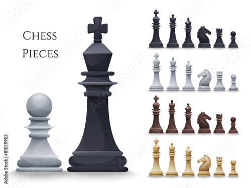 Vector Chess Figures big set - 81039903