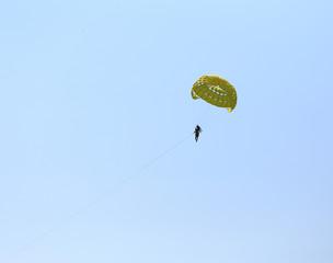 Parasailing with sky at Patong Beach in Phuket