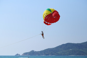 Parasailing at Patong Beach in Phuket