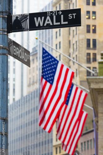 Aluminium Standbeeld Wall street, New York, USA.