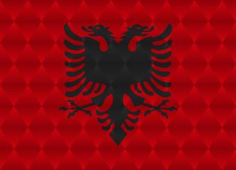 albania low poly flag