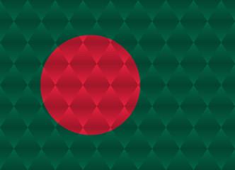 bangladesh low poly flag