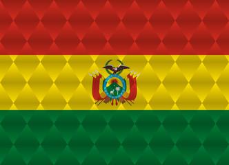 bolivia low poly flag