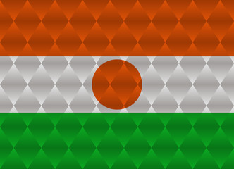 niger low poly flag