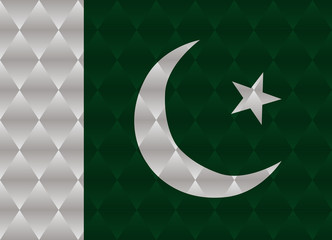 pakistan low poly flag